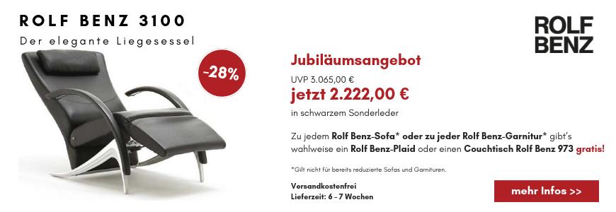 Rolf Benz 3100 Der elegante Liegesessel