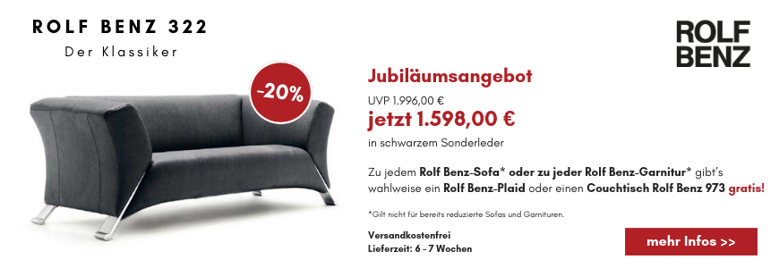 rolf benz 322 huelstastudioshop. Black Bedroom Furniture Sets. Home Design Ideas