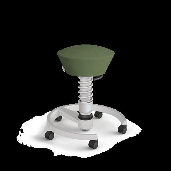 Aeris-Swopper_castors-hard-floor_standard_light-grey-metallic_light-grey-metallic_microfibre_green